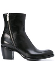 Rocco P. Zipped Ankle Boots Black