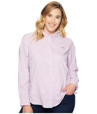 Columbia Plus Size Tamiami Ii L S Shirt Phantom Purple Women's Long Sleeve Button Up