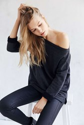 Truly Madly Deeply Jennie Off The Shoulder Sweatshirt Black