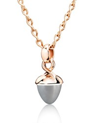 Tamara Comolli Mikado Bouquet Gray Moonstone Pendant In 18K Rose Gold