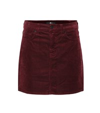 7 For All Mankind Corduroy Miniskirt Red