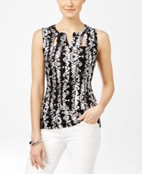 Inc International Concepts Printed Cutout Tank Top Only At Macy's Charmed Snake
