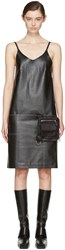 Alyx Black Leather Apron Dress
