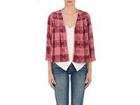 Ace And Jig Women's Cotton Kimono Jacket Red Pink