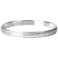 Susan Caplan Vintage 1970S Monet Silver Plated Textured Bangle Silver