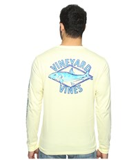 Vineyard Vines Long Sleeve Bonefish Diamond Pocket T Shirt Banana Pie Men's T Shirt Yellow