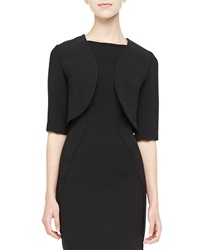 Lela Rose Gabardine Shrug Black Black 12