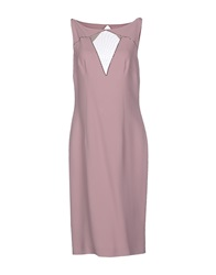 Gai Mattiolo Couture Knee Length Dresses Pastel Pink
