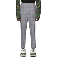 Juun.J Black Check Wool Trousers
