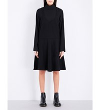 Izzue Layered Split Cuff Dress Black