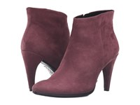Ecco Shape 75 Sleek Ankle Bordeaux Calf Nubuck High Heels Burgundy