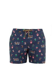 Thorsun Fiesta Print Swim Shorts Navy