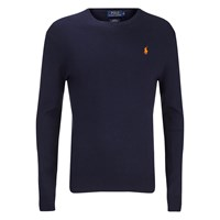 Polo Ralph Lauren Men's Crew Neck Pima Cotton Knitted Jumper Hunter Navy