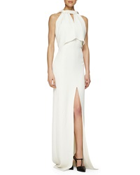Jason Wu Halter Capelet Open Back Gown