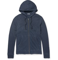 James Perse Supima Cotton Jersey Zip Up Hoodie Storm Blue