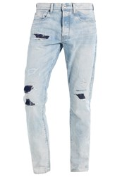 G Star Gstar 3301 Tapered Relaxed Fit Jeans Black Destroyed Denim