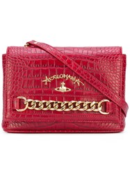 Vivienne Westwood Red Label Chain Detail Shoulder Bag Women Cotton Leather One Size