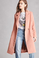 Forever 21 Double Breasted Fuzzy Coat