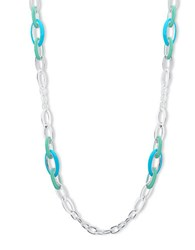 Anne Klein Chain Link Necklace Turquoise
