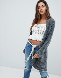 Abercrombie And Fitch Salt Pepper Boyfriend Cardigan Black White Marl Multi