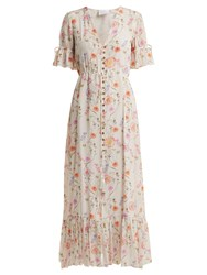 Athena Procopiou Gold In The Air Of Summer Silk Dress White Print