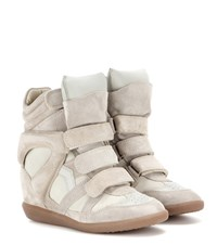 Isabel Marant Etoile Bekett Leather And Suede Sneakers No