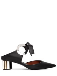 Proenza Schouler 40Mm Leather Bow Mules Black