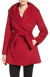 Trina Turk Women's 'Emma' Wool Blend Wrap Coat Red
