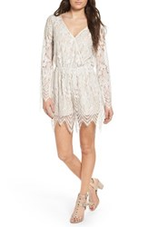 Fire Women's Bell Sleeve Lace Romper Sugar Swizzle