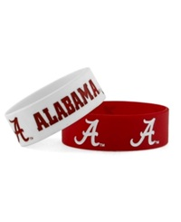 Aminco Alabama Crimson Tide Wide Bracelet 2 Pack Team Color