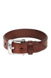 John Varvatos Basic Plain Skinny Cuff Bracelet Brown