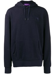 Ralph Lauren Purple Label Classic Long Sleeve Hoodie Blue