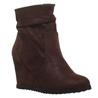 Miss Kg Sion Wedge Heeled Ankle Boots Brown