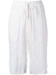 Lost And Found Ria Dunn Drawstring Shorts Women Cotton Viscose M White