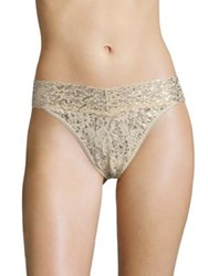 Hanky Panky Leopard Original Rise Thong Sand