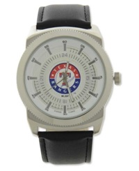 Game Time Pro Men's Texas Rangers Vintage Watch Black Silver