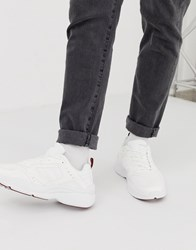 d592f41c2 Bershka Chunky Trainer In White With Red Detailing