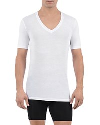 Tommy John Cool Cotton Deep V Neck Tee White
