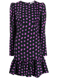 Essentiel Antwerp Short Floral Print Dress Black