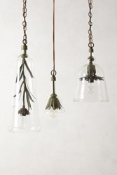 Anthropologie Petaled Pendant Clear
