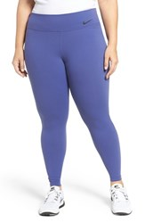 Nike Plus Size Women's Power Legendary Training Tights Dark Purple Dust Black