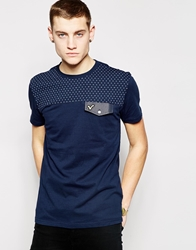 Voi Jeans T Shirt Spot Panel Navy