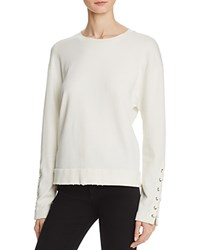 Joe's Jeans Miaya Lace Up Sleeve Sweatshirt Ecru