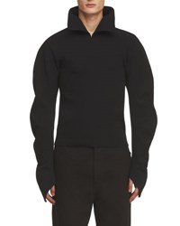 Burberry Ribbed Sculptural Sweater Black