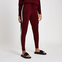 River Island Red 'Winging It' Knitted Joggers