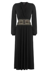 Etro Midi Dress With Embellishment Black