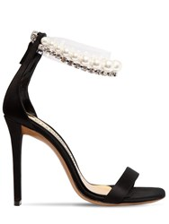 Alexandre Vauthier 105Mm Roro Satin And Pearl Sandals Black