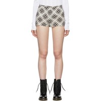 Marc Jacobs Beige And Brown Redux Grunge Plaid Shorts