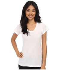 Lna S S Crew White Women's Short Sleeve Pullover