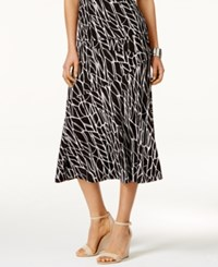 Jm Collection Jacquard Midi Skirt Only At Macy's Earth Texture